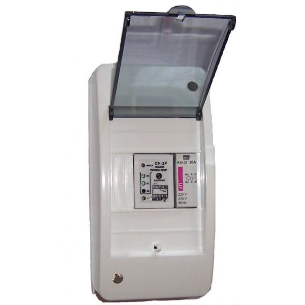 """Czujnik poziomu """"CP-2F"""" + stycznik dla pompy 1-fazowej"""