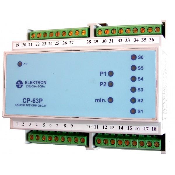 """Sterownik pomp -czujnik poziomu """"CP-63P""""-pomiar 6-ciu poziomów"""