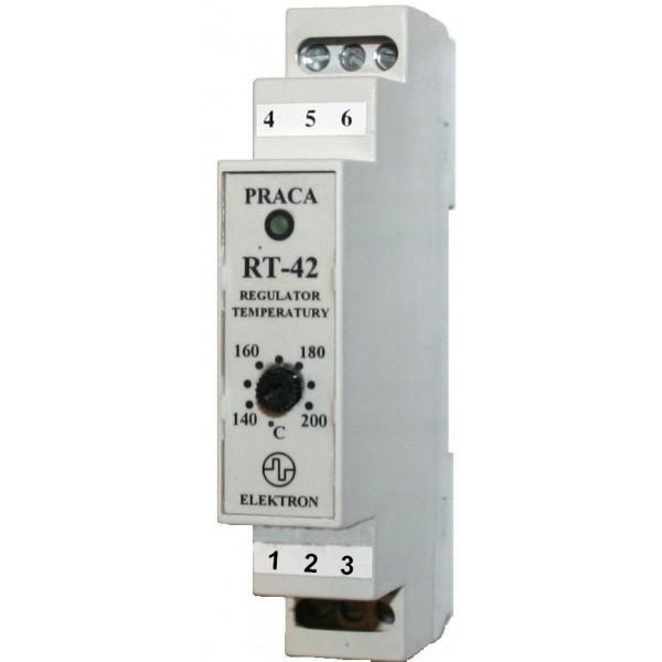 "Regulator temperatury ""RT-42 - współpraca z czujnikiem PT-100"