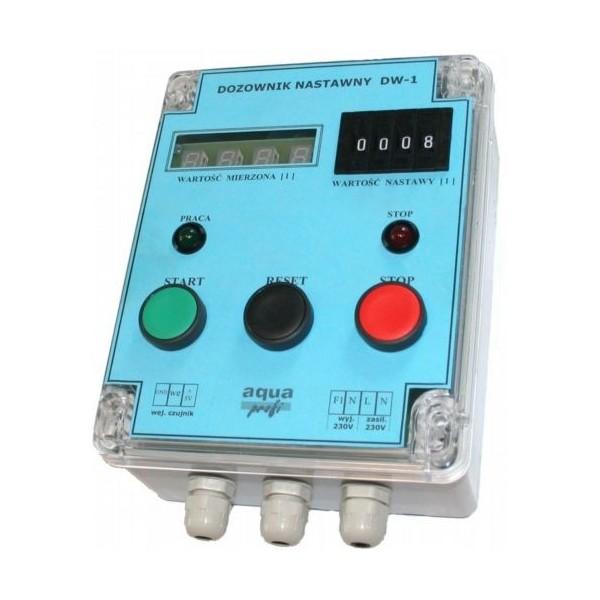 DW-1 z elektrozaworem i wodomierzem na rurę 1/2' - co 1 litr